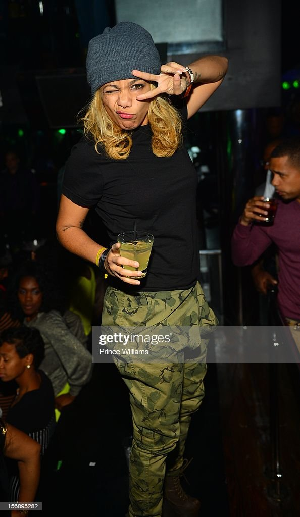 Po Johnson attend a party hosted by LaLa at Reign Nightclub on November 23, 2012 in Atlanta, Georgia.