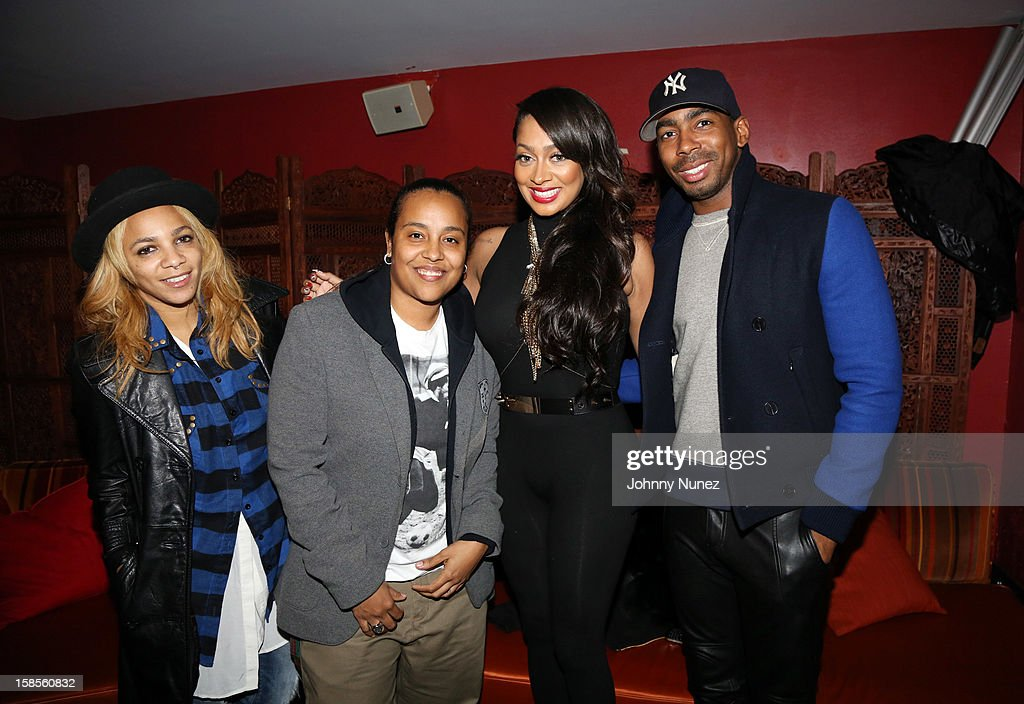 Po Johnson, Dice Dixon, La La Anthony, and Jason Bolden attend 'T.I. In Concert' at Best Buy Theater on December 18, 2012 in New York, United States.