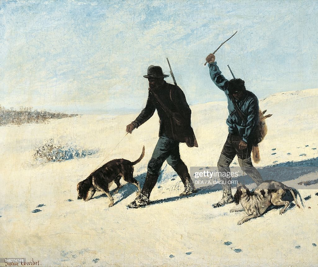 Poachers in the snow by Gustave Courbet Rome Galleria Nazionale D'Arte Moderna