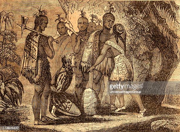 Pocahontas interceding for the life of Smith 1607 Captain John Smith 15801631 English soldier and explorer Pocahontas 15951617 Algonqiuan Indian...