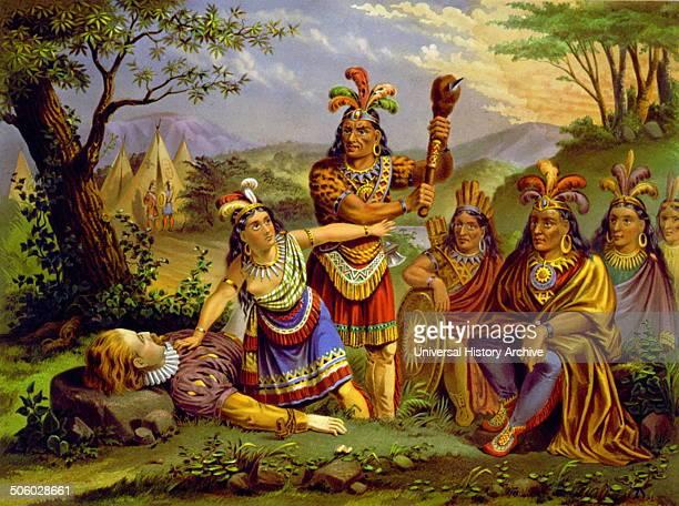 Pocahontas saving the life of Captain John Smith Date 1870 Photo by