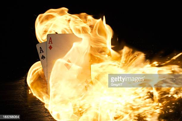 Pocket Aces on Fire