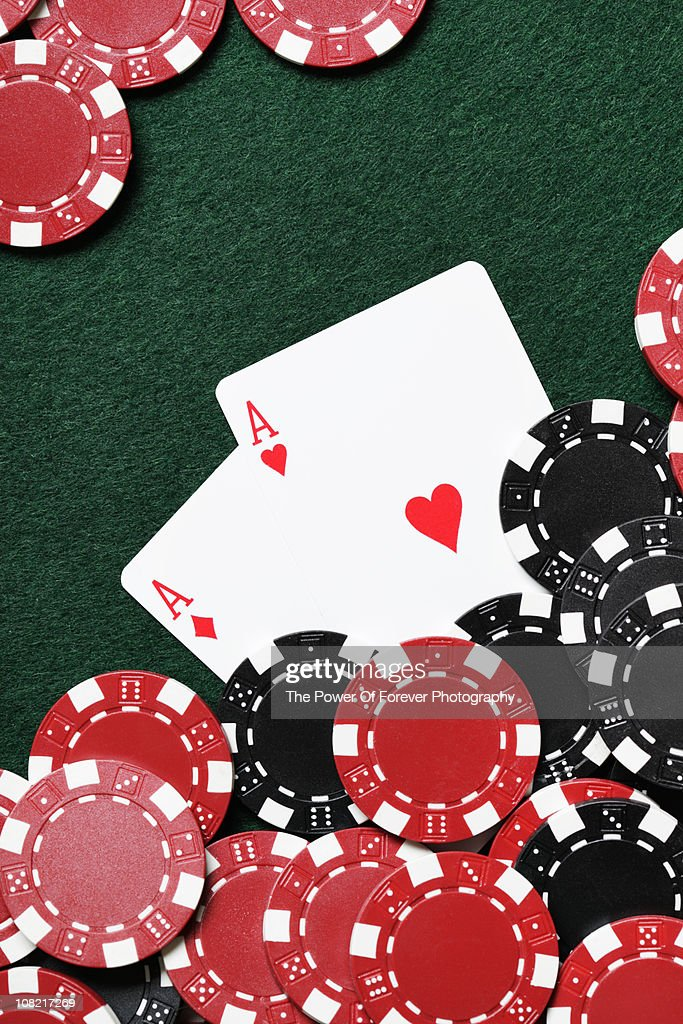 Pocket Aces - Texas Hold'em Poker : Stock Photo