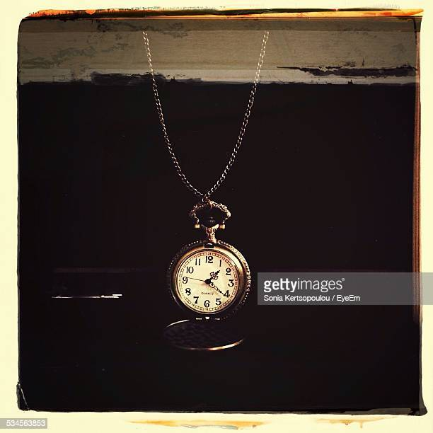 Pocket Watch On Table