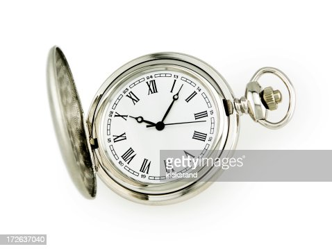 Pocket watch with clipping path
