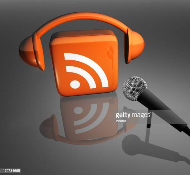 Podcast-Symbol mit Mikrofon