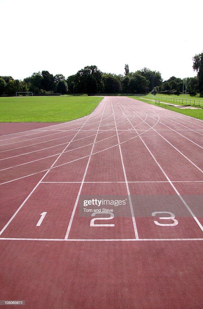 Podium Positions On Running Track