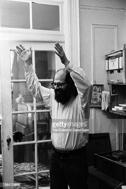 Poet Allen Ginsberg poses for a portrait at home on May 31 1969 in New York City New York