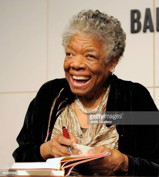 Poet and Author Dr Maya Angelou signs copies of 'Maya Angelou Letter to My Daughter' at Barnes Noble in Union Square on October 30 2008 in New York...
