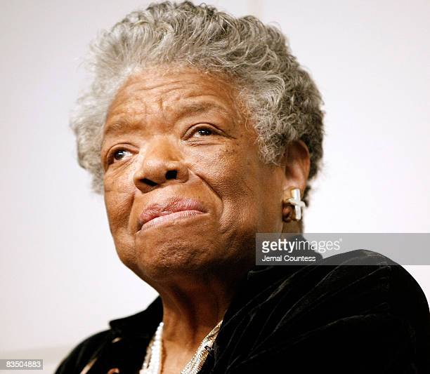 Poet and Author Maya Angelou signs copies of 'Maya Angelou Letter to My Daughter' at Barnes Noble in Union Square on October 30 2008 in New York City