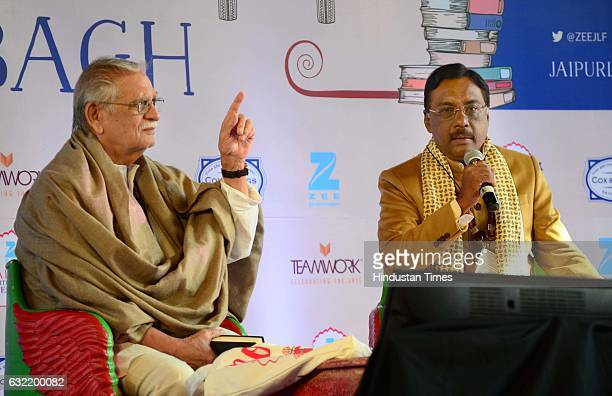 Poet and Filmmaker Gulzar during the session 'Suspected Poetry' on January 20 2017 in Jaipur India