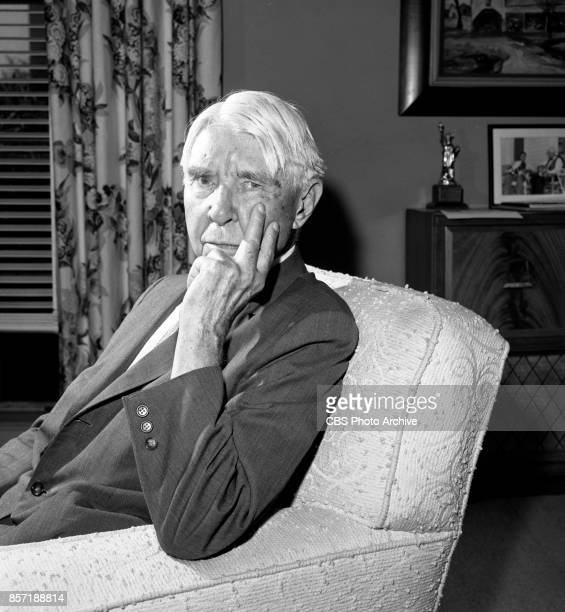 Poet and historian Carl Sandburg Image dated August 8 1961 New York NY The television program CBS Reports repeats a broadcast of Carl Sandberg at...