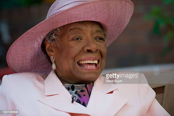 Poet Dr Maya Angelou celebrates her 82nd birthday with friends and family at her home on May 20 2010 in WinstonSalem North Carolina