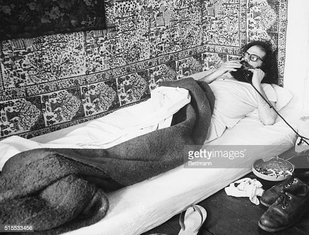 A Poet in Our Time Poet Allen Ginsberg's home is as unconventional looking as his appearance Here he lies on his bed a mattress upon the floor...