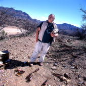 Poet Laureate author Jim Harrison poses for a portrait near his Arizona home on March 5 2001