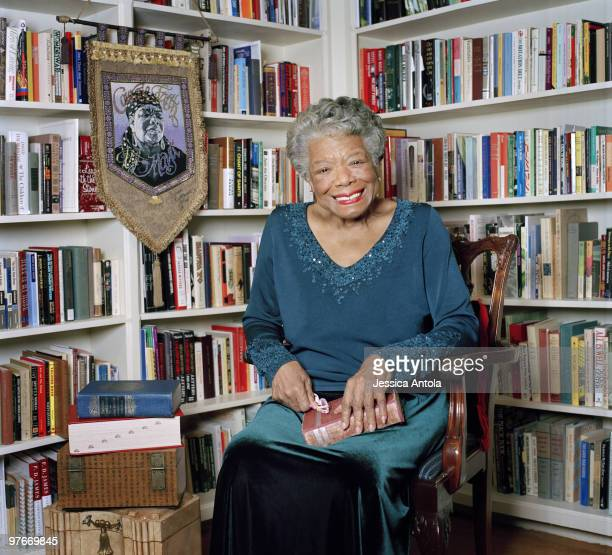 Poet Maya Angelou poses for a portrait session on January 4 Raleigh NC