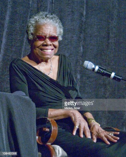 Poet Maya Angelou speaks at Florida AM University in Tallahassee Florida on January 26 2011