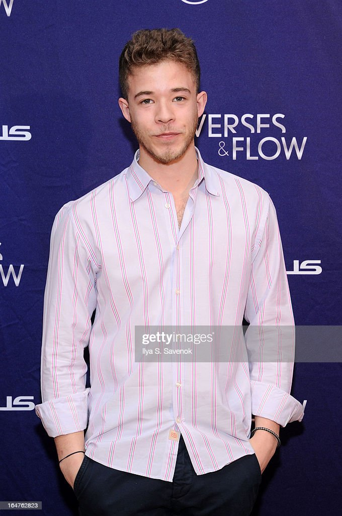 Poet Miles Hodges attends 'Verses And Flow' Live at The Liberty Warehouse on March 27, 2013 in New York City.