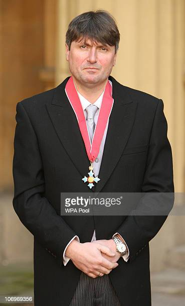 Poet Simon Armitage after he was awarded his Commander of the British Empire medal from the Prince of Wales at an investiture ceremony at Buckingham...