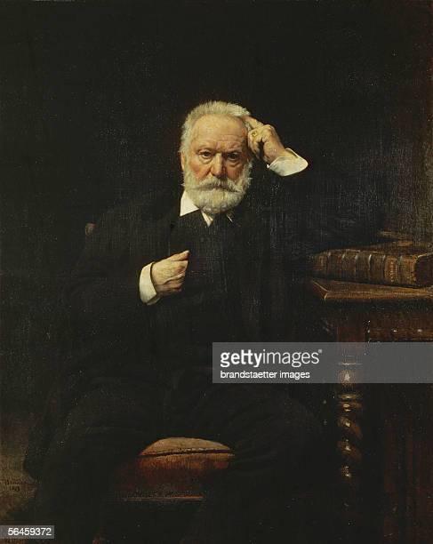 Poet Victor Hugo in 1879 Canvas Musee National du Chateau Versailles France [Der Dichter Victor Hugo Gemaelde Canvas Musee National du Chateau...