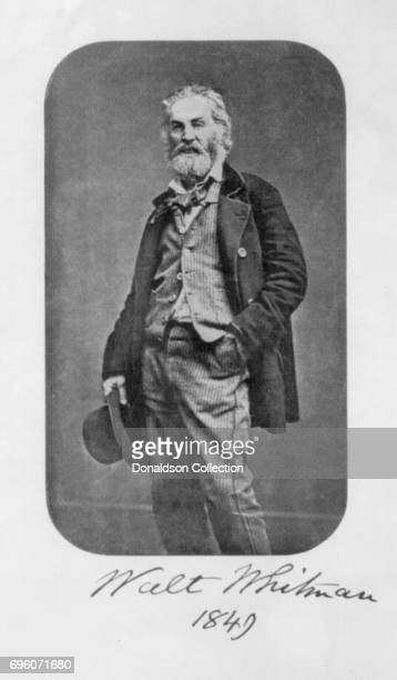Poet Walt Whitman poses for a portrait in 1849