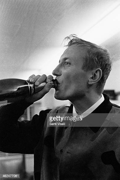 Poet Yevgeny Yevtushenko drinking on July 7 1967 in New York New York