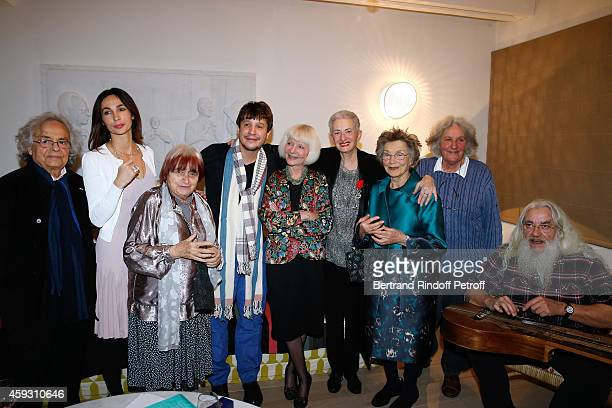 Poete Adonis Julie Abdessemed Photographer Agnes Varda Contemporary artist Adel Abdessemed Rector of the academic agency of 'Francophonie' Michele...