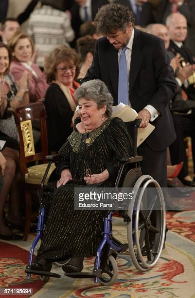 Poetess Claribel Alegria attends the 'Reina Sofia Iberoamerican Poetry' Award 2017 at Royal Palace on November 14 2017 in Madrid Spain