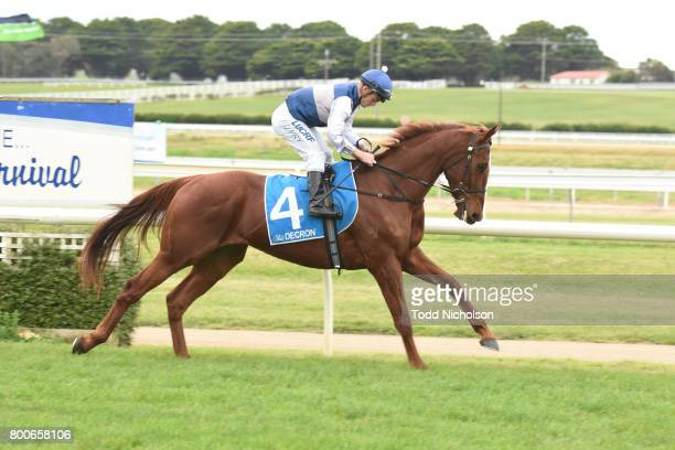 Poetic Ray ridden by Jarrod Fry goes out for the Mark Struth Signs Maiden Plate at Warrnambool Racecourse on June 25 2017 in Warrnambool Australia