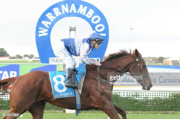 Poetic Ray ridden by Jarrod Fry wins the HFNL supports The Ripple Effect BM64 Handicap at Warrnambool Racecourse on July 09 2017 in Warrnambool...