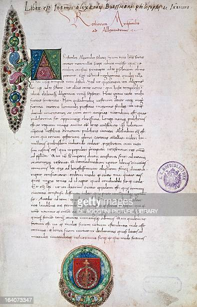 Poetics by Aristotle 15th century Italian manuscript Vienna Österreichische Nationalbibliothek