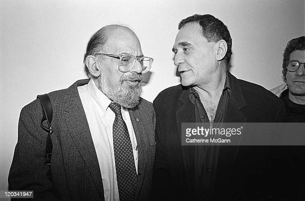 Poets Allen Ginsberg and John Giorno in January 1993 at an event in New York City New York