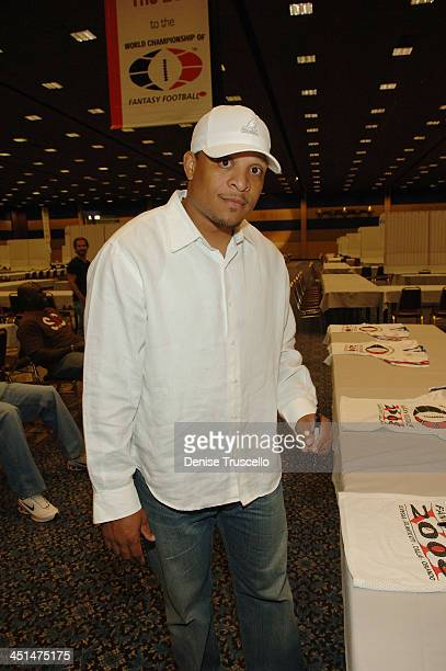 Pofessional football player Harry Colon attends the 2008 World Championship of Fantacy Football Celebrity League at the Hilton Hotel and Casino on...