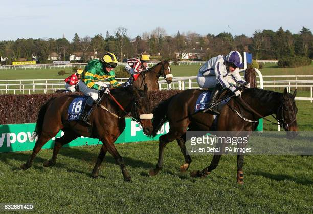 Point Barrow ridden by jockey Timmy Murphy on thier way to winning the Pierse Leopardstown Handicap Chase at Leopardstown Racecourse
