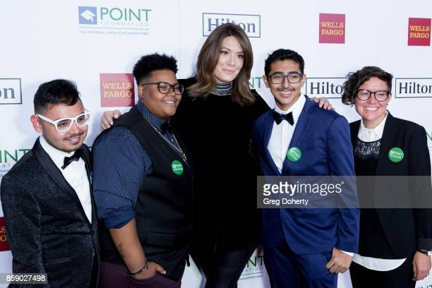 Point Honors Recipient Le'Priya White Michelle Collins Omar Salman and Bridgette Davisarrive for the Point Honors Los Angeles at The Beverly Hilton...
