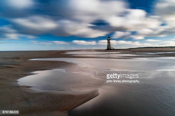 Point of Ayr Lighthouse, Talacre, North wales, UK.
