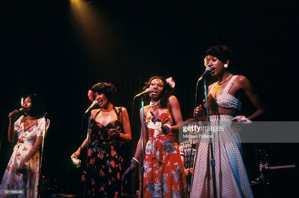 Pointer Sisters perform on stage Londom 1974