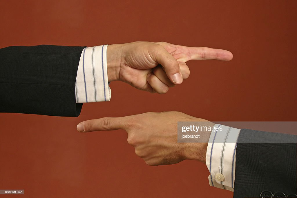Pointing Fingers : Stock Photo