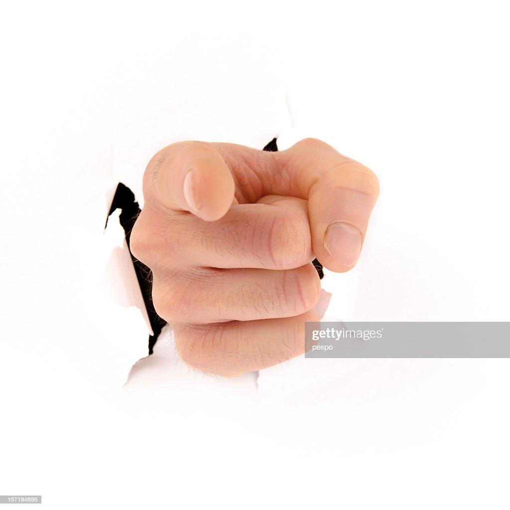 Pointant main éclater à fond : Photo