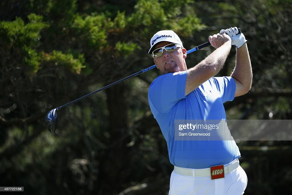 <a gi-track='captionPersonalityLinkClicked' href=/galleries/search?phrase=D.A.+Points&family=editorial&specificpeople=2130541 ng-click='$event.stopPropagation()'>D.A. Points</a> hits a tee shot on the second hole during the first round of The McGladrey Classic at Sea Island's Seaside Course on October 23, 2014 in Sea Island, Georgia.