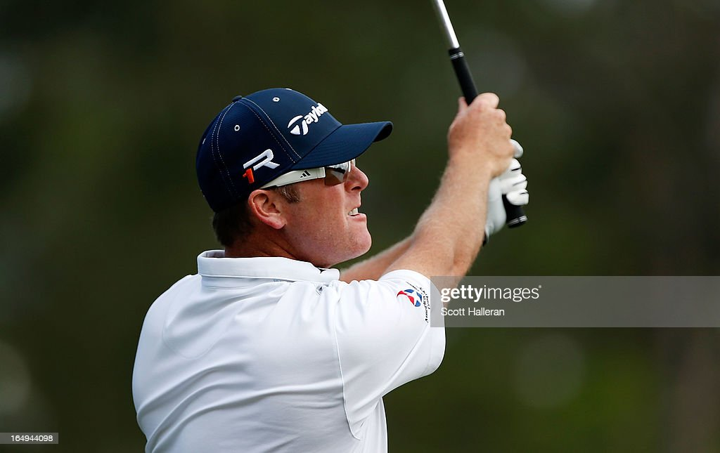 D.A. Points hits his tee shot on the seventh hole during the second round of the Shell Houston Open at the Redstone Golf Club on March 29, 2013 in Humble, Texas.