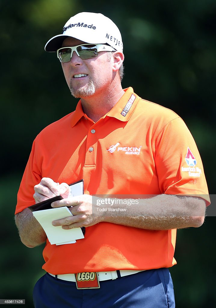 <a gi-track='captionPersonalityLinkClicked' href=/galleries/search?phrase=D.A.+Points&family=editorial&specificpeople=2130541 ng-click='$event.stopPropagation()'>D.A. Points</a> prepares to play his tee shot on the seventh hole during the first round of the Wyndham Championship at Sedgefield Country Club on August 14, 2014 in Greensboro, North Carolina.