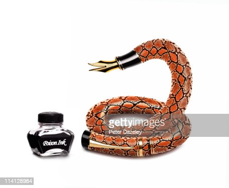 Poison pen and ink : Stock Photo