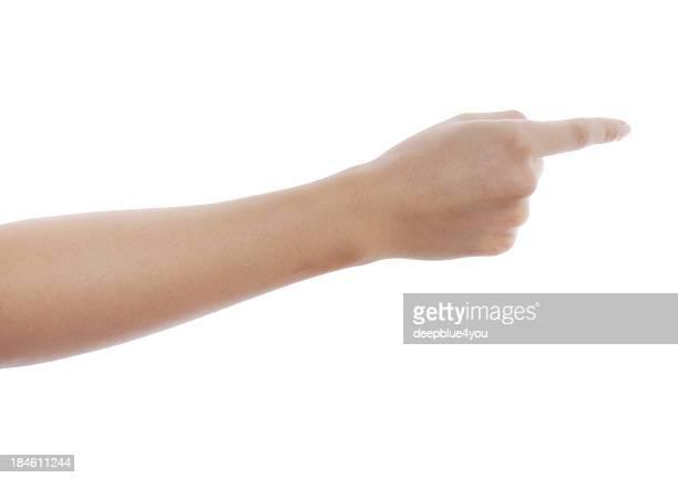poiting に指にホワイト