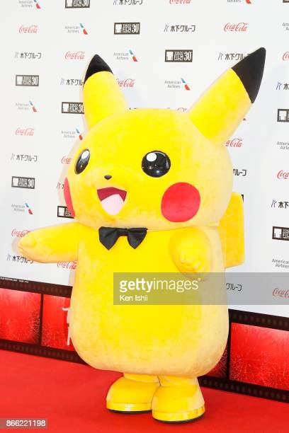 Pokemon character Pikachu attends the red carpet of the 30th Tokyo International Film Festival at Roppongi Hills on October 25 2017 in Tokyo Japan