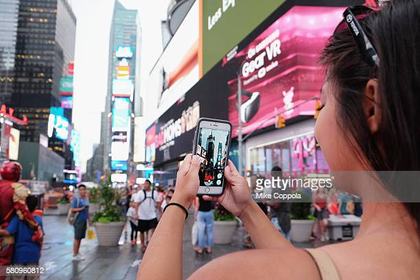 Pokemon Go Craze Hits New York City on July 25 2016 in New York City