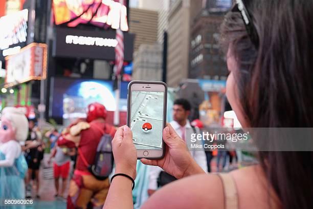 Pokemon Go Craze Hits New York City on July 25 2016 in New York City