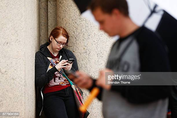Pokemon GO players meet at Sydney Opera House on July 20 2016 in Sydney Australia The Opera House hosted a Pokemon gathering adding lures to all...