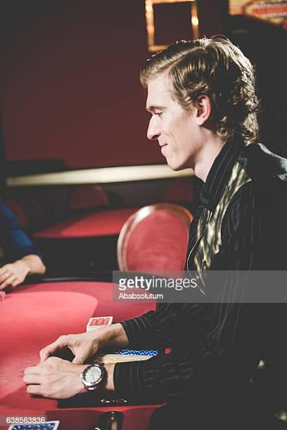 Poker Cards Dealer at the Casino, Portorose, Europe