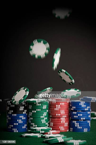 Falling Poker Chips